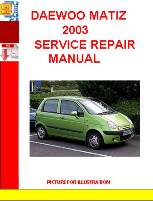 daewoo matiz ignition wiring diagram daewoo matiz 2003 service repair manual - download manuals ... daewoo matiz manual