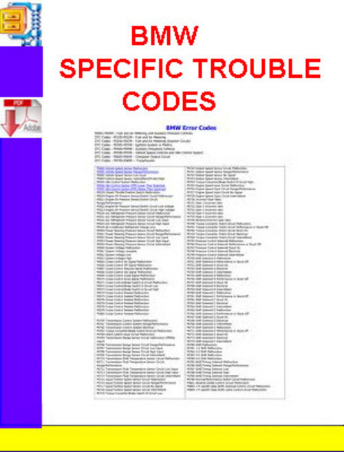bmw specific trouble codes
