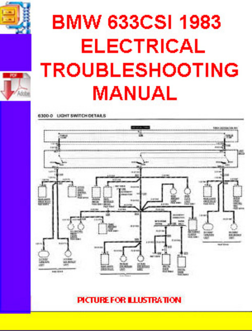 bmw 633csi 1983 electrical troubleshooting manual. Black Bedroom Furniture Sets. Home Design Ideas