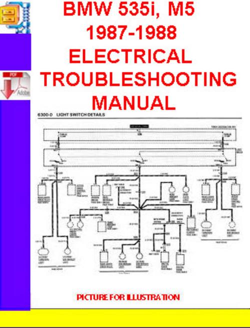Bmw 535i M5 19871988 Electrical Troubleshooting Manual Downloadrhtradebit: 1987 Bmw 535i Wiring Diagram At Gmaili.net
