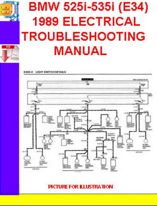 189126614_BMW525i 535i_E34_1989ELECTRICALTROUBLESHOOTINGMANUAL e34 wiring diagram e34 ignition switch wiring diagram \u2022 free 2001 bmw 525i fuse box diagram at gsmx.co
