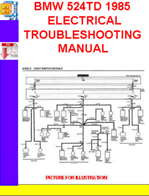 bmw 524td 1985 electrical troubleshooting manual. Black Bedroom Furniture Sets. Home Design Ideas