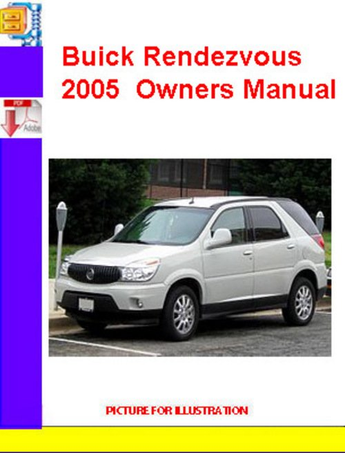 Pay for Buick Rendezvous 2005  Owners Manual