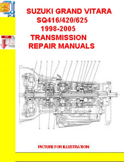 SUZUKI GRAND VITARA SQ416/420/625 1998-2005 TRANSMISSION REP - Down...