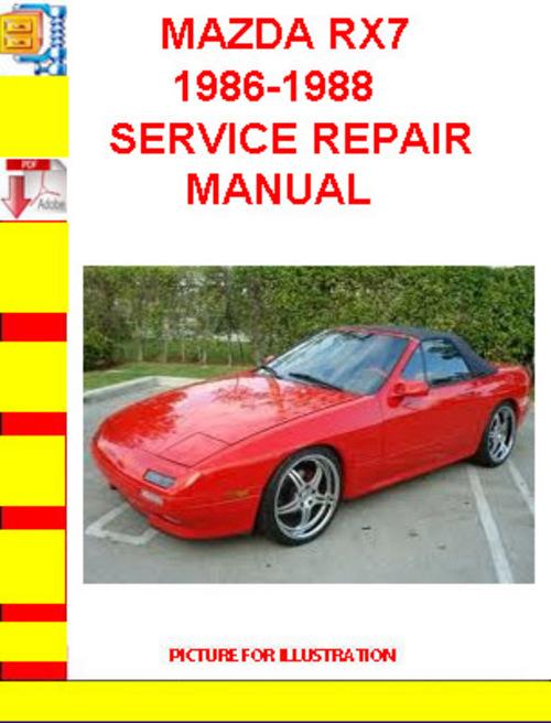service manual  1988 mazda rx 7 free service manual