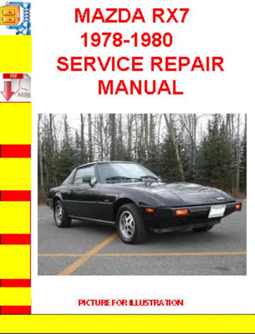 mazda rx7 1978-1980 service repair manual