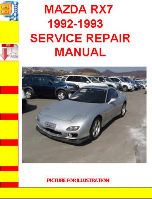 mazda rx7 1992-1993 service repair manual