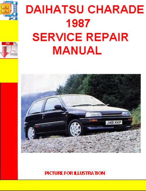 Download Daihatsu Charade G11 Workshop Manual Free
