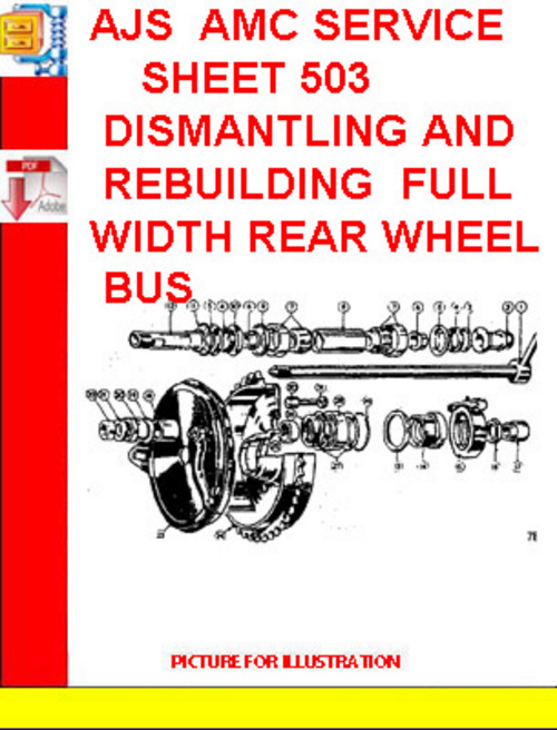 Pay for AJS  AMC SERVICE SHEET 503 DISMANTLING AND REBUILDING  FULL