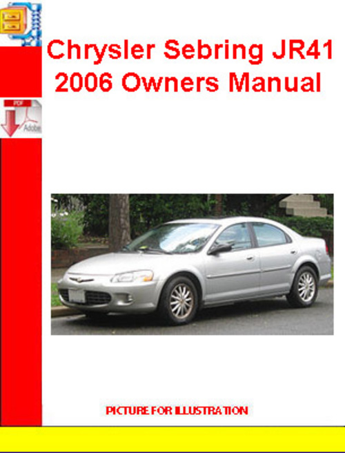 chrysler sebring jr41 2006 owners manual download. Black Bedroom Furniture Sets. Home Design Ideas
