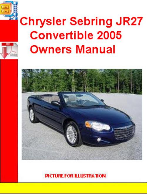 chrysler sebring convertible 2005 owners manual