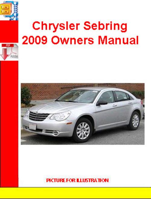 2009 chrysler sebring owners manual pdf