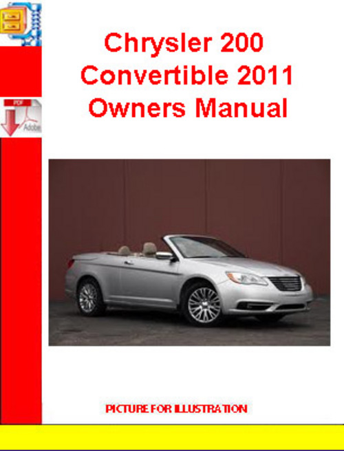 Chrysler 200 Convertible 2011 Owners Manual