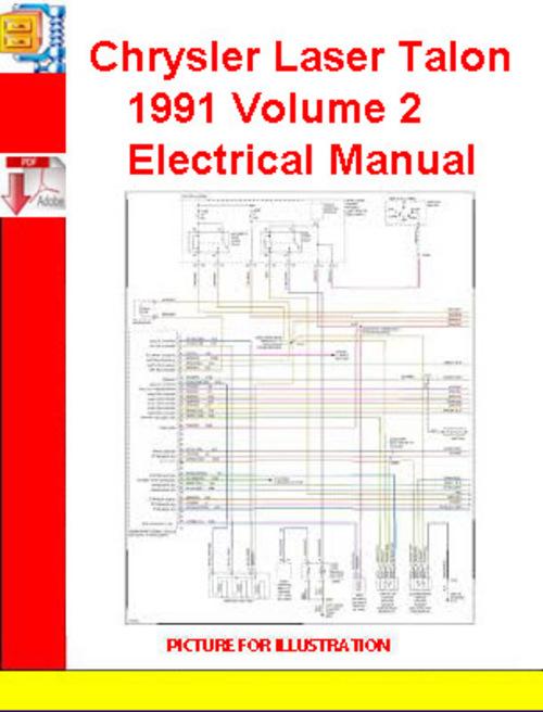 Pay for Chrysler Laser Talon 1991 Volume 2 Electrical Manual