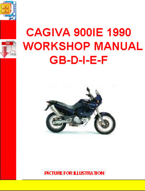 Pay for CAGIVA 900IE 1990 WORKSHOP MANUAL GB-D-I-E-F