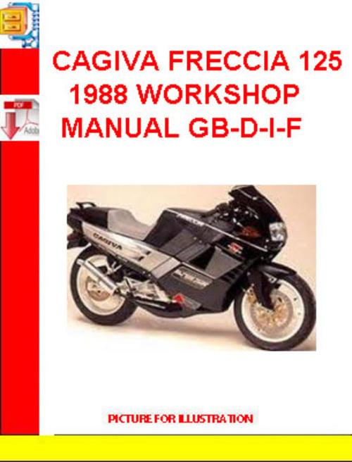 Free CAGIVA FRECCIA 125 1988 WORKSHOP MANUAL GB-D-I-F Download thumbnail