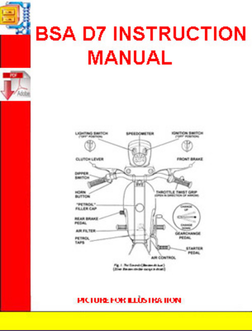 Pay for BSA D7 INSTRUCTION MANUAL