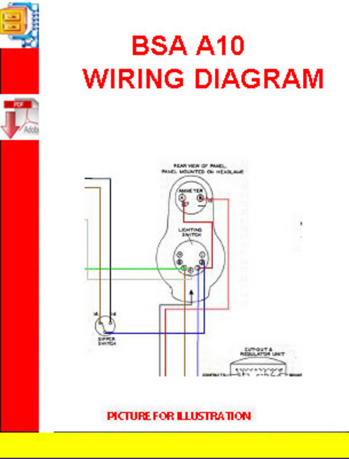 bsa a10 wiring diagram download manuals technical rh tradebit com 1962 bsa a10 wiring diagram bsa a10 super rocket wiring diagram