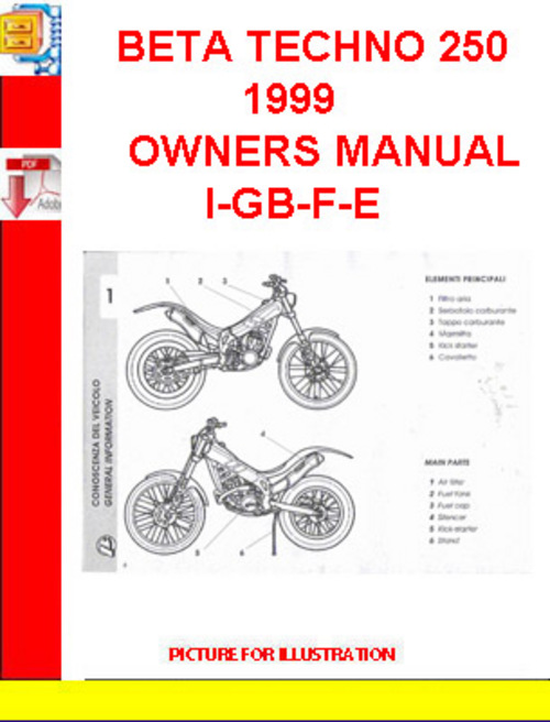 an motorcycle wiring diagram with 196848810 Beta Techno 250 1999 Owners Manual I Gb F E on 82are Install Spy 5000m Remote Start Alarm 2013 also Transmission 3 Speed Installation moreover 2013 Suzuki Dr650 moreover 277430170 Volvo Fm Truck Electrical Wiring Diagram Manual as well Catalogue Of Spare Parts K 750.