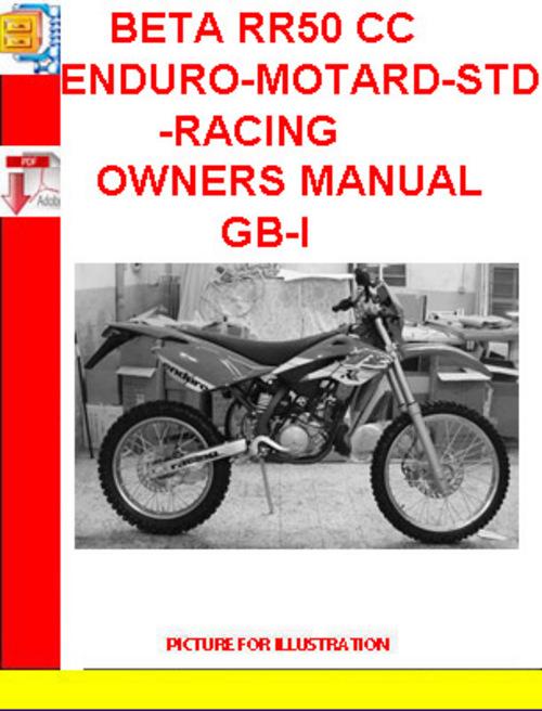 beta rr50 cc enduro motard std racing owners manual gb i download Service Station Parts Manual