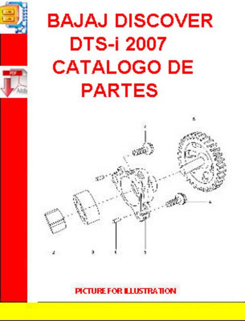 bajaj discover dts i 2007 catalogo de partes download. Black Bedroom Furniture Sets. Home Design Ideas