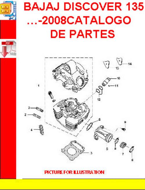 bajaj discover 135 2008catalogo de partes download