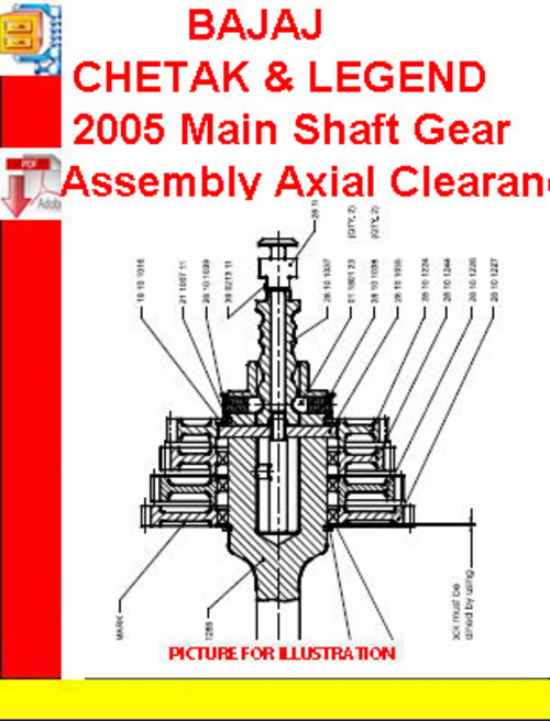 Gear Shaft Assembly Gear Assembly Axial cl