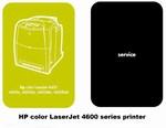 Thumbnail HP Color 4600 laserJet Service & Quick Reference Manual