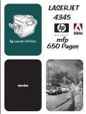 Thumbnail HP LaserJet 4345 MFP Service Manual