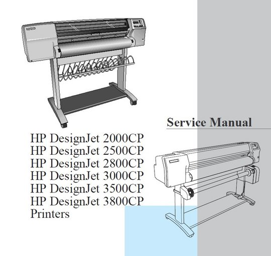 Pay for HP DesignJet 2000CP 2500CP 2800CP 3000CP 3500CP 3800CP Service Manual