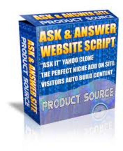 Pay for Ask Answer Website Script PLR