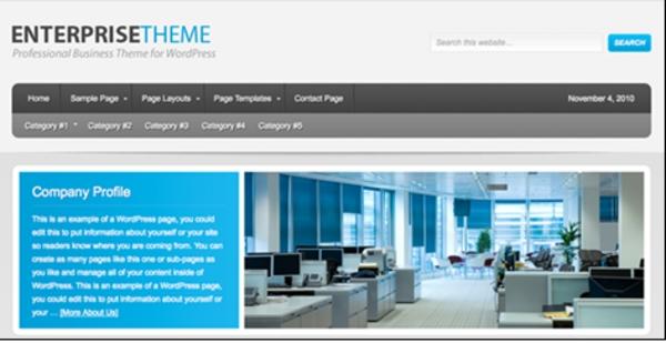 Enterprise Child Theme for Genesis Framework