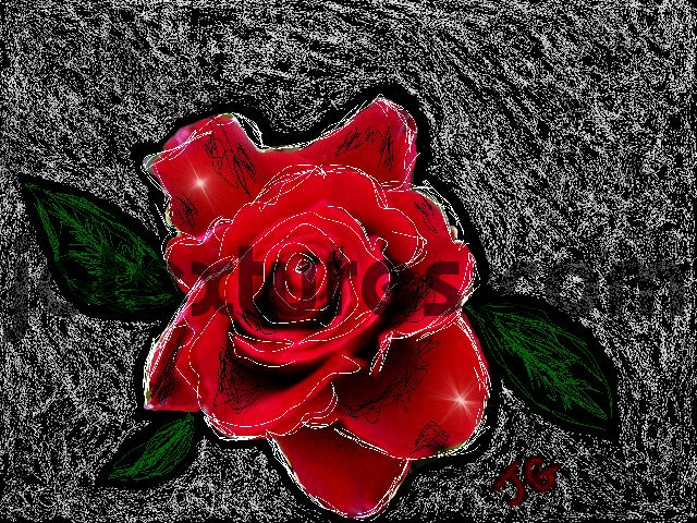 Pay for lovely digital art flower rose painting picture wallpaper