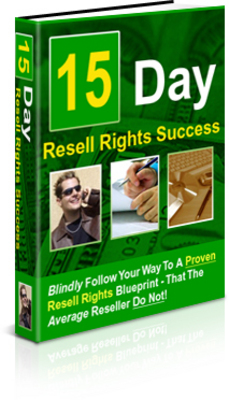 Pay for 15 Day Resell Rights Success