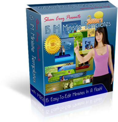 Pay for 15 IM Minisite Minisite Templates with MRR