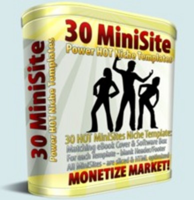 Pay for 30 Hot New Minisite Templates with MRR