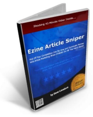 Pay for Ezine Article Sniper MRR
