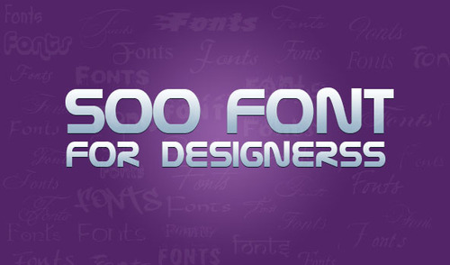 Pay for 500 Great Fonts for Designing