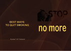 Thumbnail BEST WAYS TO QUIT SMOKING