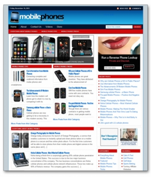 Pay for Mobile Phones Niche Blog + Private Label Rights