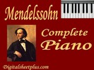 Thumbnail MENDELSSOHN Complete Piano Sheet Music Collection in pdf for