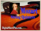 Thumbnail Mozart String Quintets sheet music collection in pdf format