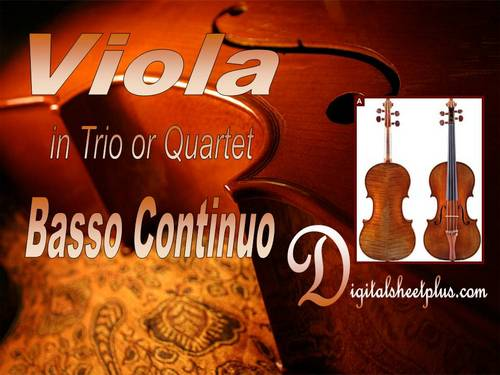 Pay for Viola in Trio or Quartet with Basso Continuo Sheet Music