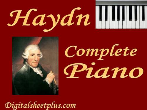 Pay for HAYDN Complete Piano Sonatas sheet music collection in pdf format