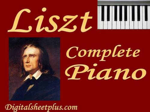 Pay for LISZT Complete Piano Partituras Collection en formato pdf