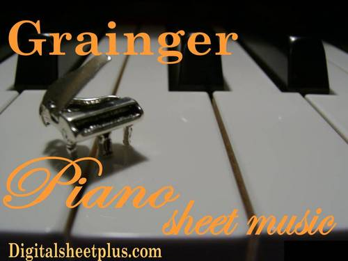 Pay for Grainger for Piano Sheet Music Collection in pdf format