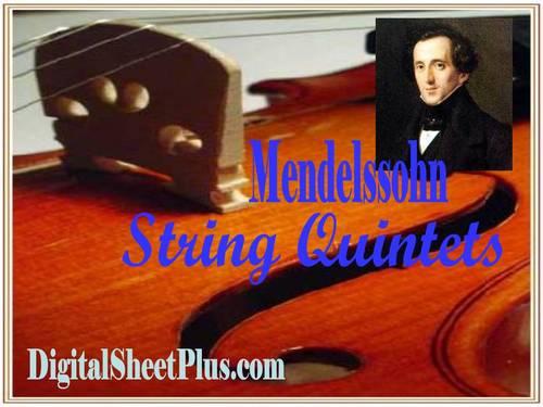 Pay for Mendelssohn String Quintet No 2 in B flat Op 87  parts sheet music in pdf format