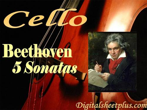 Pay for 5 Sonatas for Cello by Beethoven sheet music in pdf format