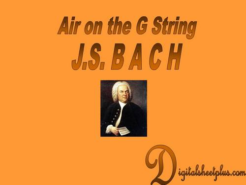 Air on the G String by J S  Bach for Violin and Piano sheet music in pdf  format