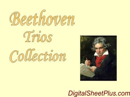 Pay for Beethoven Complete Piano, String, Violin Trios partituras en formato pdf
